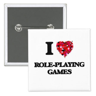 I Love Role-Playing Games 15 Cm Square Badge