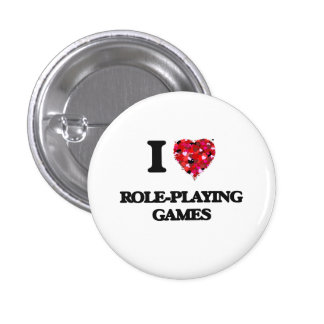 I Love Role-Playing Games 3 Cm Round Badge