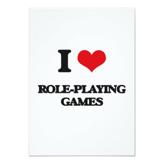 I Love Role-Playing Games 5x7 Paper Invitation Card