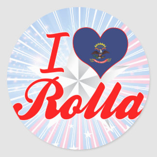 I Love Rolla, North Dakota Sticker