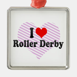 I love Roller Derby Christmas Ornament