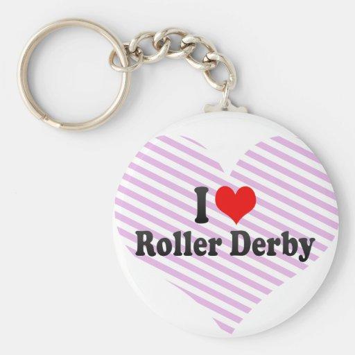 I love Roller Derby Key Chain