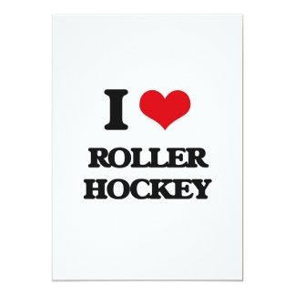 I Love Roller Hockey Personalized Invitation