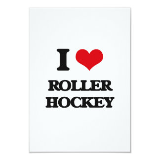 I Love Roller Hockey Personalized Announcement