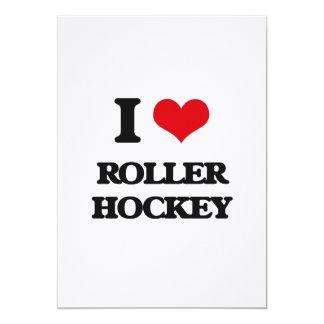 I Love Roller Hockey Personalized Invite