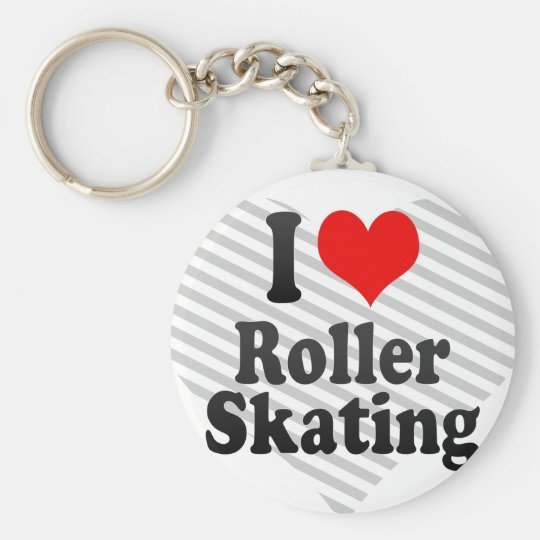 I love Roller Skating Key Ring