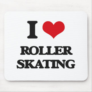 I Love Roller Skating Mouse Mat