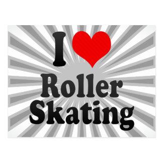 I love Roller Skating Postcard