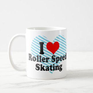 I love Roller Speed Skating Basic White Mug
