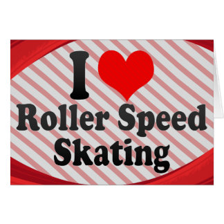 I love Roller Speed Skating Note Card