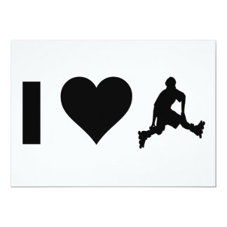 I Love Rollerblading 13 Cm X 18 Cm Invitation Card