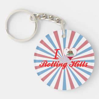 I Love Rolling Hills, California Acrylic Keychains