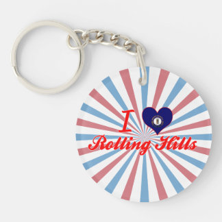 I Love Rolling Hills, Kentucky Key Chains