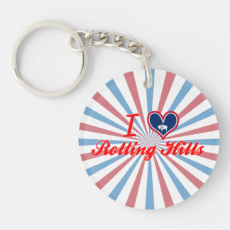 I Love Rolling Hills, Wyoming Key Chains