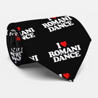 I LOVE ROMANI DANCE TIE