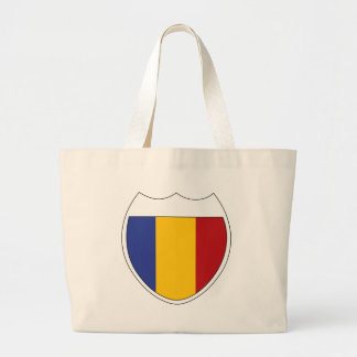 I Love Romania Large Tote Bag