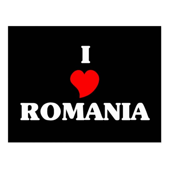 I Love Romania Postcard