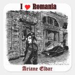 I love Romania Quadratsticker