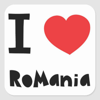I love Romania Square Sticker