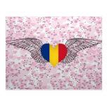 I Love Romania -wings Post Card