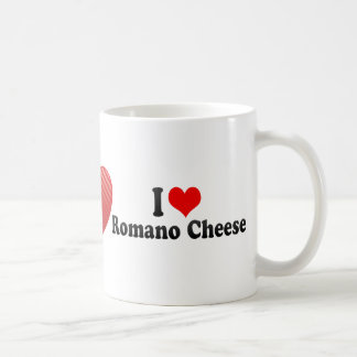 I Love Romano Cheese Coffee Mugs