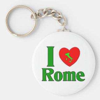 I Love Rome Italy Basic Round Button Key Ring