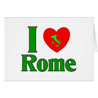 I Love Rome Italy Card