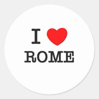 I Love Rome Classic Round Sticker