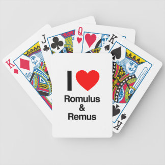 i love romulus and remus poker deck