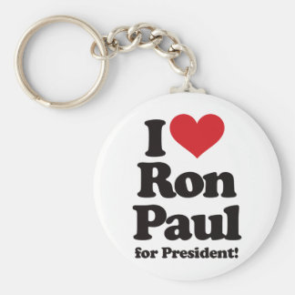 I Love Ron Paul for President Basic Round Button Key Ring