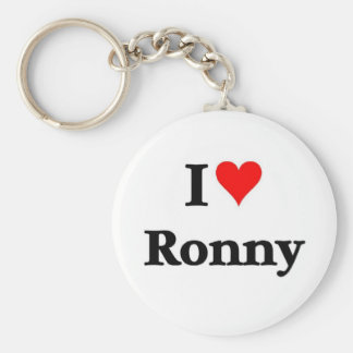 I love Ronny Basic Round Button Key Ring
