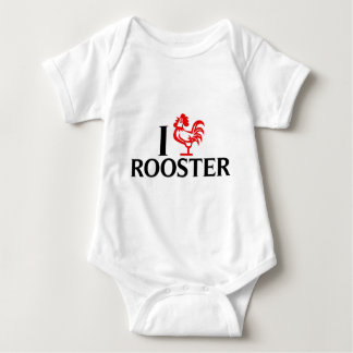 I Love Rooster Baby Bodysuit