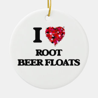 I love Root Beer Floats Christmas Ornament