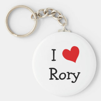 I Love Rory Basic Round Button Key Ring