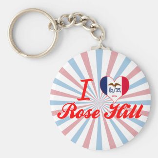 I Love Rose Hill Iowa Keychains