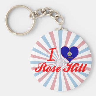 I Love Rose Hill, Kansas Key Chain