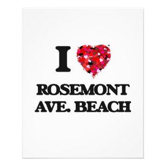 I love Rosemont Ave. Beach Illinois 11.5 Cm X 14 Cm Flyer