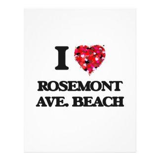 I love Rosemont Ave. Beach Illinois 21.5 Cm X 28 Cm Flyer