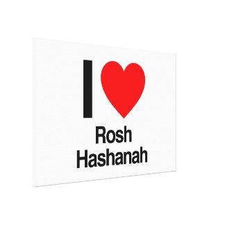 i love rosh hashanah stretched canvas prints