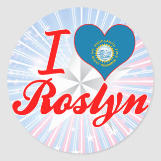 I Love Roslyn, South Dakota Round Stickers