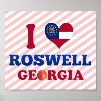 I Love Roswell, Georgia Poster