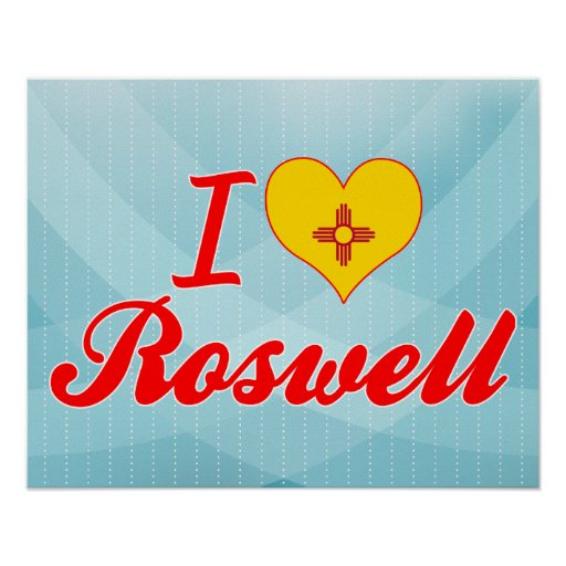 I Love Roswell, New Mexico Posters