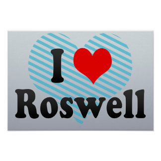 I Love Roswell United States Posters