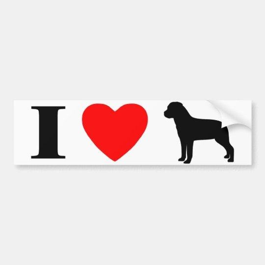 I Love Rottweilers Bumper Sticker