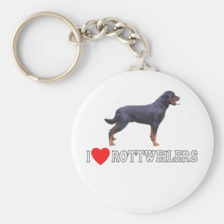 I Love Rottweilers Key Ring