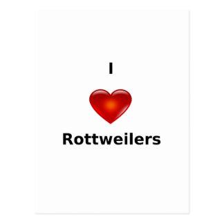 I love Rottweilers Postcard