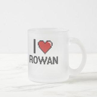 I Love Rowan Digital Retro Design Frosted Glass Mug