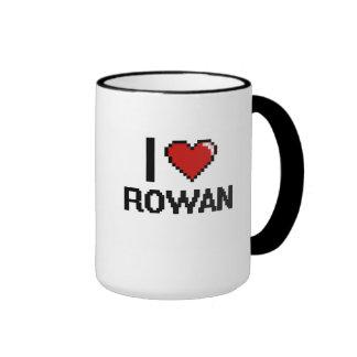 I Love Rowan Digital Retro Design Ringer Mug