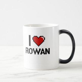 I Love Rowan Digital Retro Design Morphing Mug