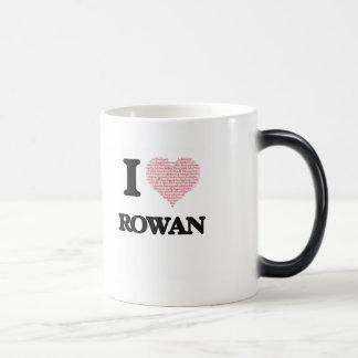 I love Rowan (heart made from words) design Morphing Mug
